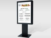 Display stand with Restaurant Daily Menu for Inspira Open