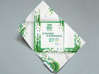 Tranquilidade Convençaõ de Quadros Folding Invite
