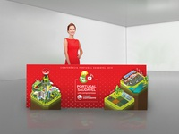 Front desk of Isometric Illustration for Continente