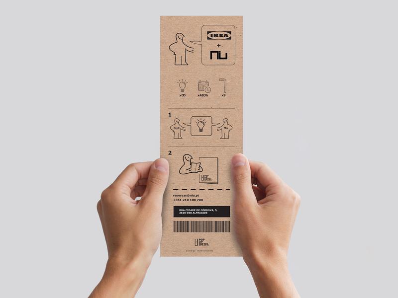 IKEA Popup Hotel Meeting Invitation Proposal back invitation invite illustration branding typography mockup communication graphic design
