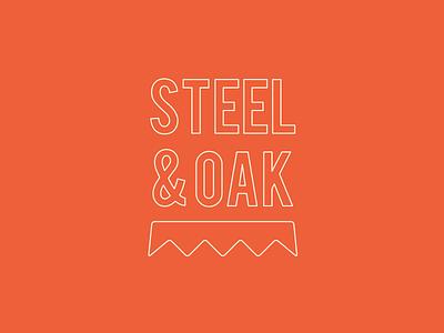 Steel & Oak Outline outline logo branding bottlecap