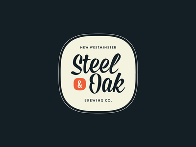 Steel & Oak Badge badge mission script losttype logo branding