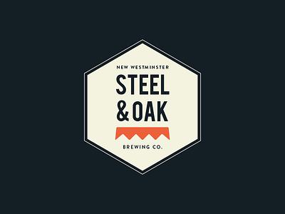 Steel & Oak Badge badge mission logo branding brewery new westminster