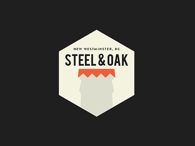 Steel & Oak Bottle badge logo branding brewery new westminster bottle cap