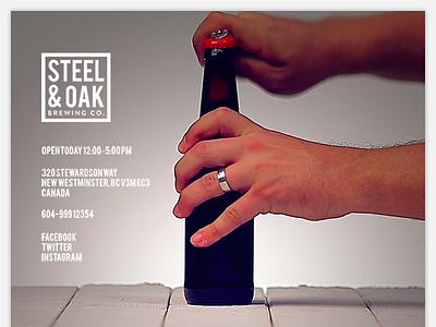 Steel & Oak Website Concept