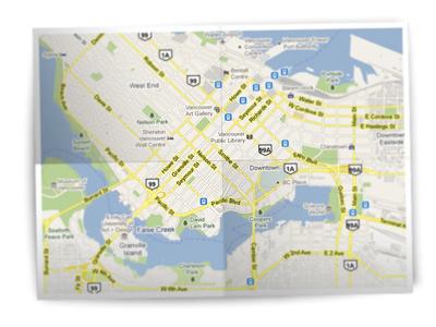 Map map fold paper photoshop illustrator blur
