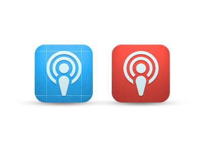 icon ios app icon podcast ui
