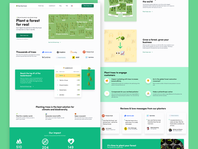 Landing Page - Plant My Forest trees forest trendy trend 2020 web landing design landing page design landingpage landing logo game design art dailui app landing page illustration design ux browser