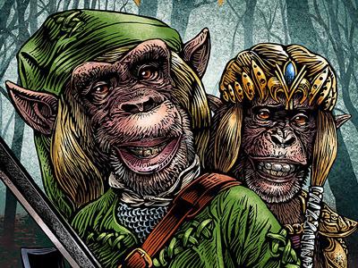 The Legend Of Zelda: Lancelot Link secret chimp chimp hero complex gallery chet phillips lancelot link zelda