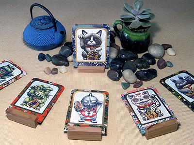 Maneki-Neko Inspired Lucky Cards