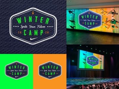 Nike Winter Camp badge patch swoosh branding logo camp nike