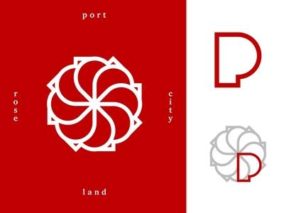 Rose City portlandia pnw roses flower icon logo weekly challenge weekly warm-up weeklywarmup oregon portland