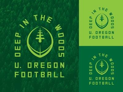 Deep in the Woods logo sports logo college ncaa pdx portland sports football oregon