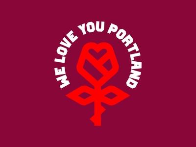 We Love You Portland apparel logos pnw oregon logo pdx portland