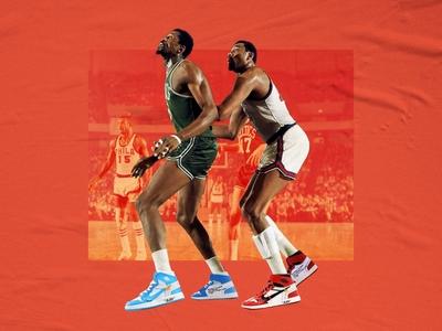 Wilt & Bill legends legend 76ers boston philly celtics nike michael jordan michael jordan mj nba basketball