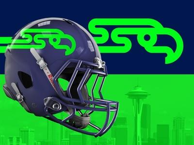 Seahawks Rebrand Concept pnw washington logo football logo football nfl seattle