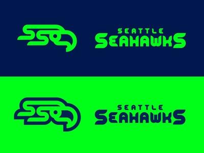Seahawks Logos custom lettering custom type customtype font wordmark sports logo football logo nfl football pnw washington seattle