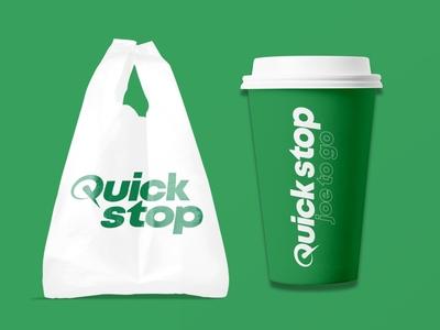 Quick Stop dribbbleweeklywarmup weekly challenge weekly warm-up weeklywarmup corporate branding corporate brand identity logo branding