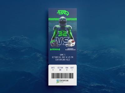 Seahawks Tix mockup sports nfl football northwest pnw washington seattle seahawks