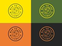 War on the Willamette crest badge soccer badge animal duck beaver corvallis eugene portland pnw oregon college ncaa logo sports logo athletics soccer sports basketball football