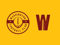 Washington Football Club branding logo badge logo sports branding sports design sports logo crest badge dc washington dc washington sports football nfl