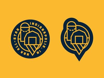 NBA All-Star Indianapolis pt. IV sports design sports branding sports logo indianapolis indiana badge design badgedesign badge logo badges badge nba nike logo sports basketball