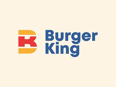 Burger King Rebrand (Take 2) dribbbleweeklywarmup weekly challenge weekly warm-up weeklywarmup food rebrand logo concept logodesign logos logo branding design brand design brand identity brand