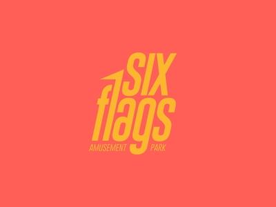 Six Flags Rebrand branding design brand design branding brand identity designer idenity identity branding identity design identity identitydesign logodesign logo design logos logo weekly warm-up weekly challenge weeklywarmup weekly