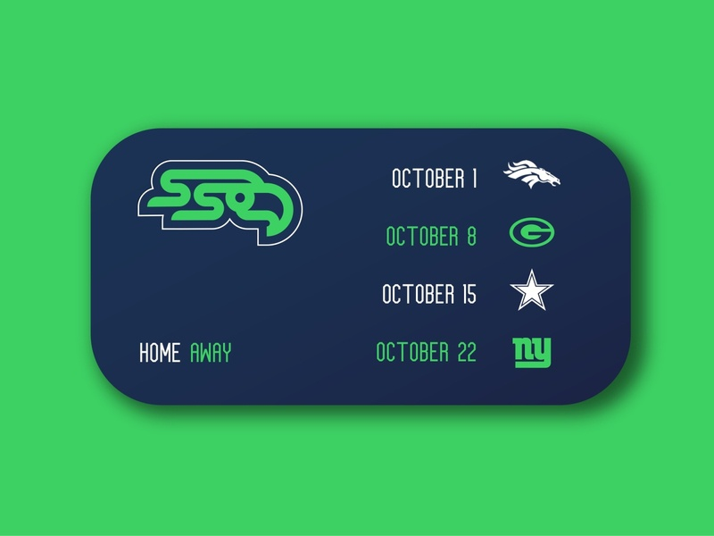 Seahawks Widget ux uxdesign uiux ui sports branding logo logodesign sports logo football sports weeklyui weekly challenge weekly warm-up weeklywarmup
