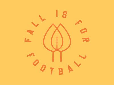 Fall is for Football sports design sports logo logo design logodesign sports football logo dribbbleweeklywarmup weekly challenge weekly warm-up weeklywarmup weekly
