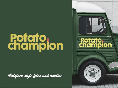 Potato Champion pnw pdx oregon portland rebrand rebranding food branding and identity branding concept branding brand branding design logo weekly challenge weekly warm-up weeklywarmup dribbbleweeklywarmup