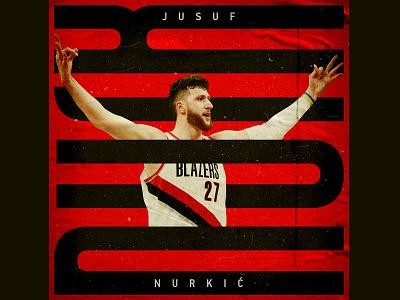 Nurk sports design sports type art typogaphy type posters nba poster basketball card basketball player pnw pdx oregon portland nba basketball