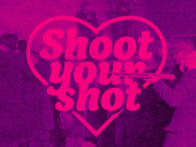 Shoot Your Shot card valentine logos logo design logodesign logotype logo weekly challenge weekly warm-up weeklywarmup weekly