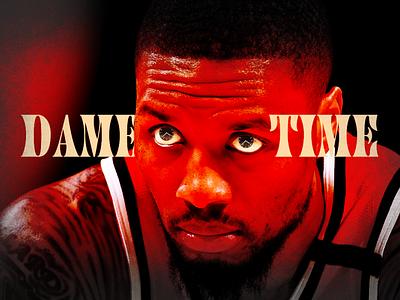 Dame Time design portland oregon nike nba basketball sports logo