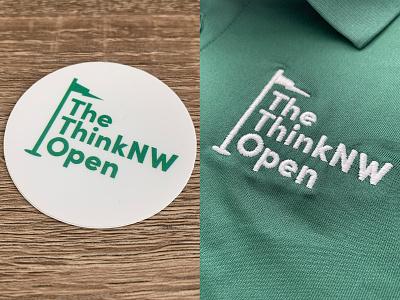 The ThinkNW Open brand design branding graphic design identity golf sports advertising logotype logodesign logo oregon portland
