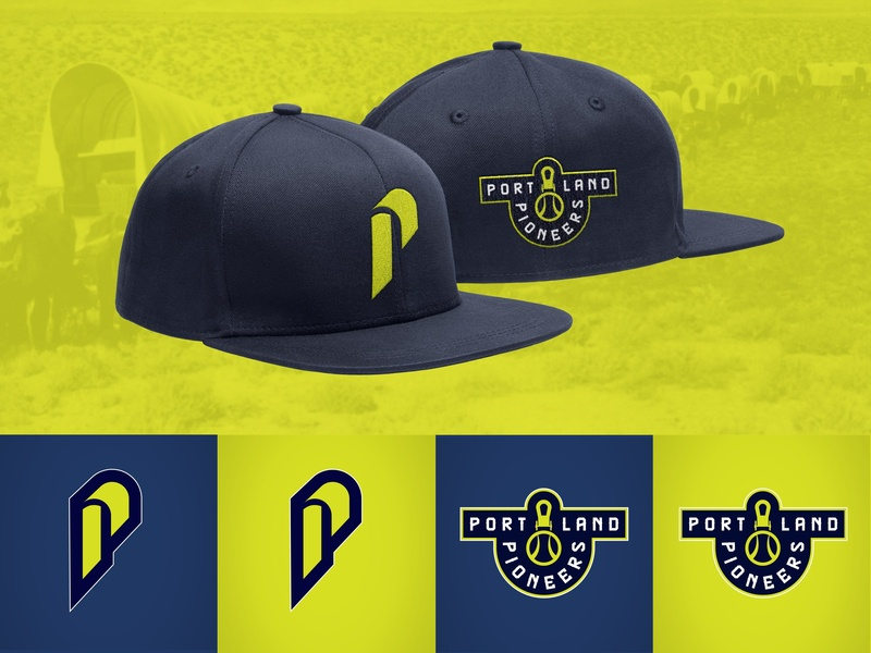 Portland Pioneers Alt Logos branding sports identity logo mlb baseball pioneers portland