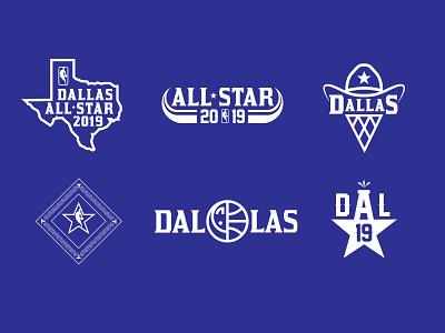 Dallas All-Star Logo System allstar dallas mavericks texas basketball nba dallas
