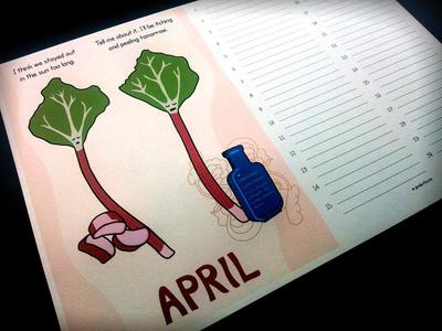 "Seasonal eating monthly planner, ""April"""