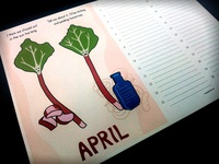 "Seasonal eating monthly planner, ""April"""