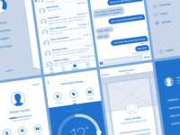 Sketch wireframing kit for iOS