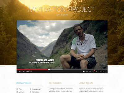 Motivation Project website ui rails adventure outdoors running motivation