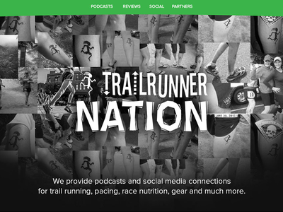 Trail Runner Nation - Home Page trail running website ui responsive sports