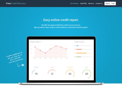 Credit Repair Consultancy website ui flat responsive