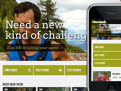 UltraSignup Race Website website ui race running design responsive