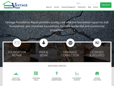 Foundation Repair Website website ui ux foundation construction design