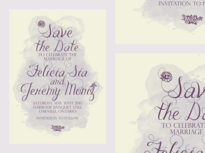 Save The Date: Felicia and Jeremy