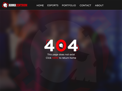 Arma Centrum 404 Web Page centrum arma
