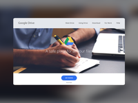 (FIXED) Google Drive Landing/App Page #DailyUI