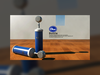 Blue Bottle Microphone Advertisement (Cinema4D + VRay)