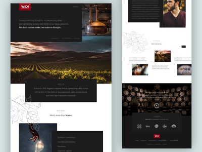 Wine & Spirits Distribution Consulting Company Website Design winery wine ux website ui wines landing page